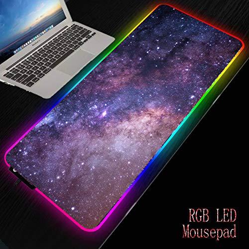 Haofengjing Weltraumnebel Rgb Soft Large Gaming Mouse Pad Übergroße Leuchtende Led Extended Mousepad Base Computer Tastatur Pad Mat