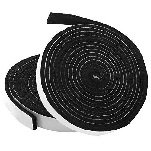 Veraing Ofendichtschnur Kamindichtung Selbstklebend BBQ Self-Adhesive Smoker Dichtung Kamindichtung für Ofenfenster und Ofenrohr 7.5 Ft Length 1/8 Inch Thickness (4, 0.75 Inch Wide)