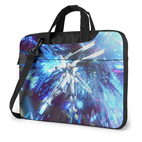 XCNGG Anime Gundam Stylish Customized Laptop Shoulder Bag, Suitable for 13-15.6 inch MacBook Pro/Air and Most Other Laptops, Portable Laptop Bags, Briefcase Protective Covers