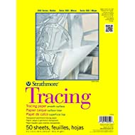 "Strathmore 370-9 300 Series Tracing Pad, 9""x12"" Tape Bound, 50 Sheets,White."