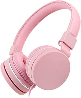 King Boutiques Noise Cancelling Headphones, Bluetooth Wireless Over Ear Headset with Hi-Fi Deep Bass, Bluetooth Headphones with CVC 8.0 Mic for Travel Work TV PC (Color : Pink)
