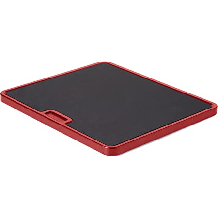 Nifty Large Appliance Rolling Tray - Red, Home Kitchen Counter Organizer, Integrated Rolling System, Non-Slip Pad Top for Coffee Maker, Stand Mixer, Blender, Toaster