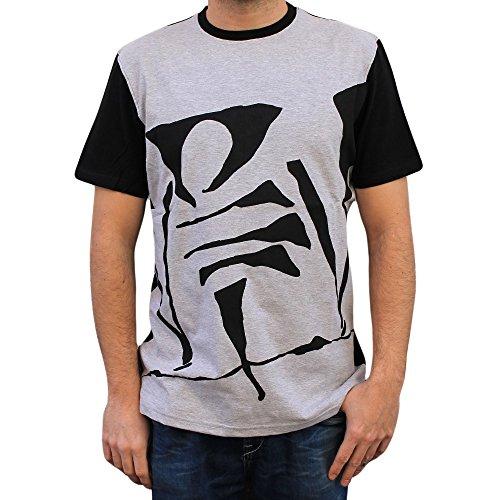 NPNG Camiseta VIOLADORES del Verso Big Logo Unisex, de algodón en Color Gris