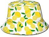 Lemon Tropical Creative Crazy Print Bucket Hat Fisherman Fishing Sun Cap for Adult Women Men Girl Boy Unisex