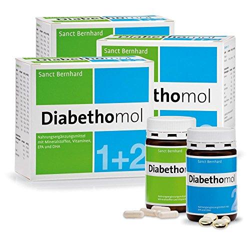 Sanct Bernhard Diabethomol mit Vitamin C, E, Mineralstoffen, Zink, Chrom, Magnesium 540 Kapseln