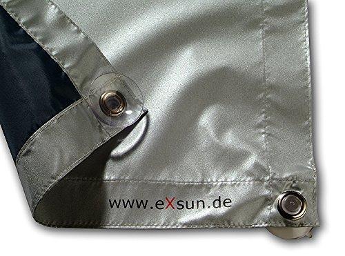 eXsun Sonnenschutz für Velux U08 / 808 Dachfenster Rollo, Hitzeschutz, Verdunkelungsrollo - mit Krafthaftsaugern, kein Bohren - kein Nageln - kein Schrauben (GGU, GGL, GPU, GPL, GHU, GHL, GTU, GTL, GXU, GXL, VU, VL, VKU)