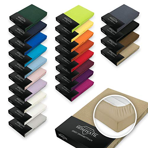 EXKLUSIV HEIMTEXTIL Jersey Spannbettlaken Premium Marke 140-160 x 200 cm Grau