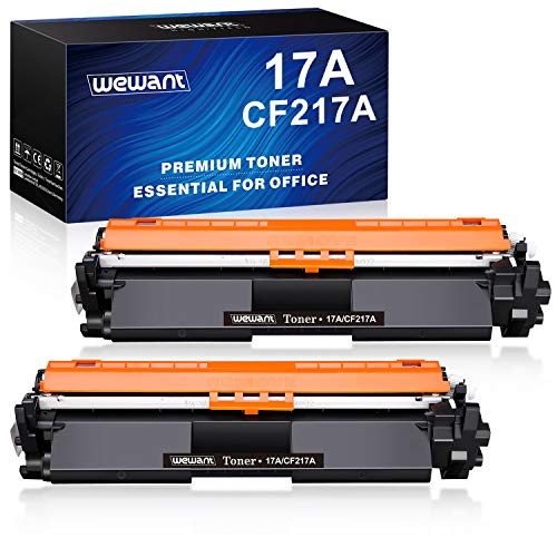 Wewant Toner 17A CF217A Ersatz für HP 17A CF217A Tonerkartusche Kompatibel mit HP LaserJet Pro M102a M102w HP LaserJet Pro MFP M130a M130nw M130fn M130fw, 2 Schwarz