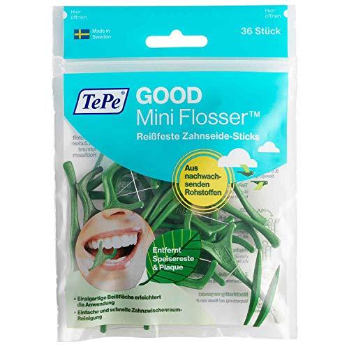 Tepe GOOD Mini Flosser, 36 Stück, Grün