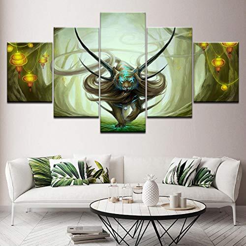 Jgophu Leinwand Malerei Evanescence 5 Stücke Modulare Tapeten Poster Rahmen Druck für Wohnzimmer Wohnkultur 30x40x2 30x60X2 30x80cm