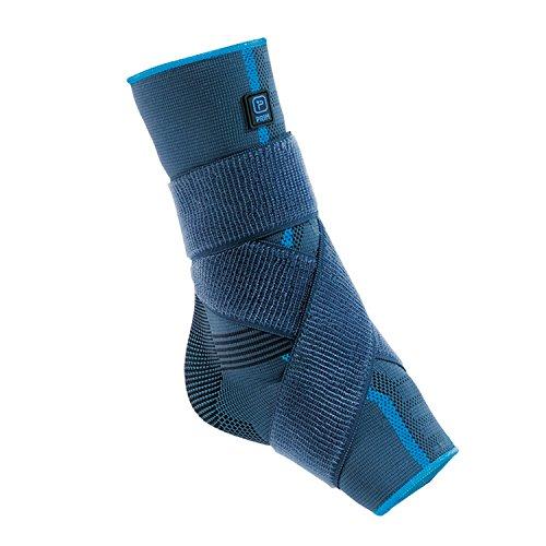 Aqtivo Sport - Tobillera elástica con almohadillas de silicona maleolares y correa de la figura de ocho – disponible en 3 tamaños