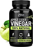Zeal Naturals 100% Natural Raw Apple Cider Vinegar Capsules (1560mg|120...