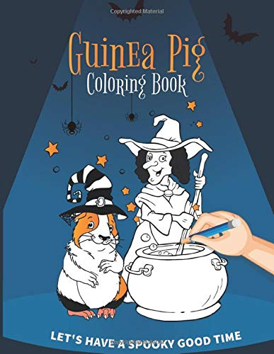 Guinea Pig Coloring Book: Halloween Theme