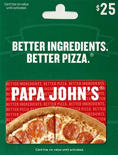 Amazon Com Papa John S Pizza 25 Gift Card Gift Cards