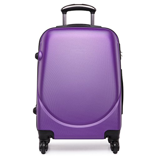 Kono Hard Shell Suitcase Lightweight ABS Hand Luggage Travel Trolley Case(Purple, 20 inch)
