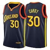 Stephen Curry Jersey, 30# Golden State Warriors 2021 Oakland City Edition Bordado Basketball Jerseys Unisex Swingman T-Shirt Top Top Top Directo (S-XXL) L