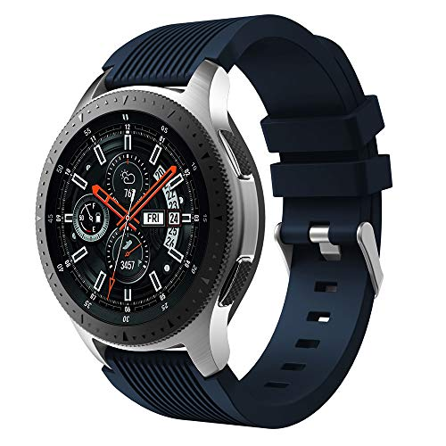 MuSheng Compatible for Samsung Galaxy Watch 46MM Armband Band,Fashion Fitness Weicher Silikon Ersatz Band B¨¹Gel Armband Kompatible f¨¹r Samsung Galaxy Watch 46MM