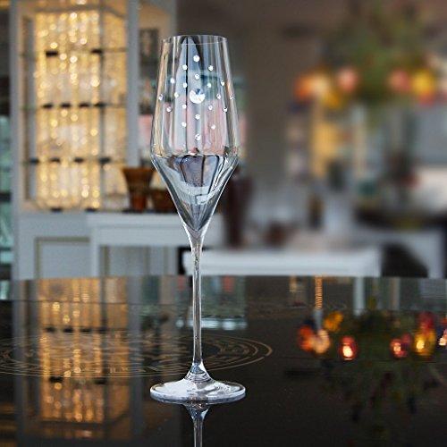 Flûte de champagne Diamonds 220ml, transparent, verre, (GERMAN Cristal powered by CRISTALICA)
