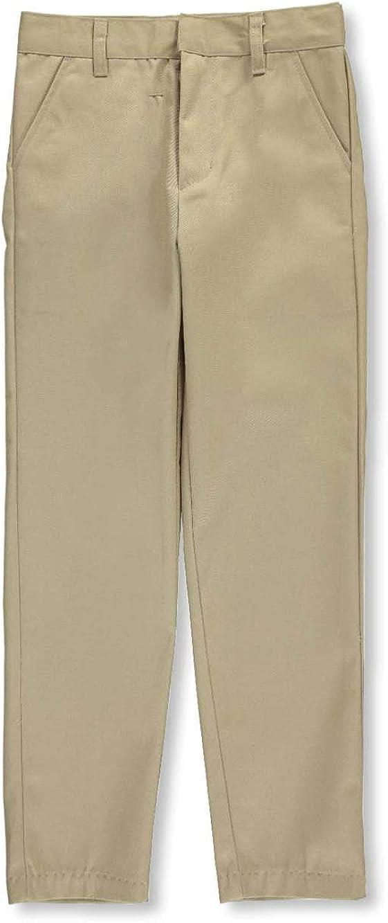 Galaxy Boys' Flat Front Slim Fit School Uniform Pants: Clothing