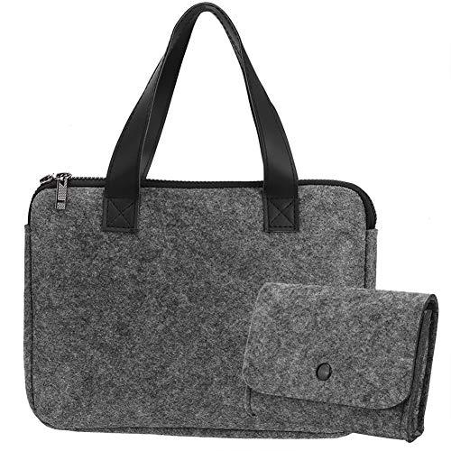 Bolsa de Transporte para portátil - Portátil Multiusos de Fieltro para portátil Soporte para Bolsa de Transporte con Cartera(15 Inch Bag)