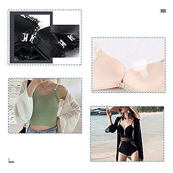 oshhni 10 Ensembles Bikini Clips Crochet et Pression Sangle Métallique Soutien-Gorge Attache Maillots de Bain - 19mm