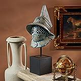 Design Toscano Ancient Roman Pompeii Gladiator Helmet Statue, Verdigris