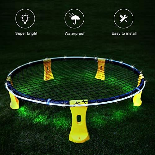 Mookis Blinngo LED Hoop Lights für Spikeball Game Blinngoball Game weiß
