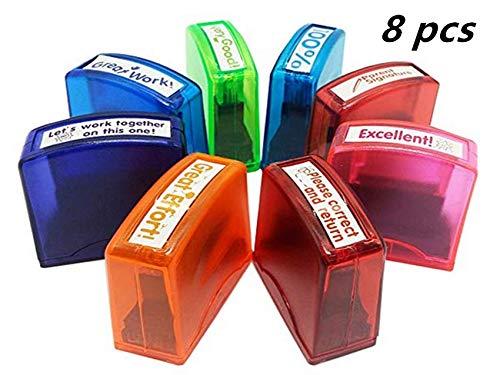 Self-Inking Teacher Stamp Set Mess-Free Motivation Teacher
