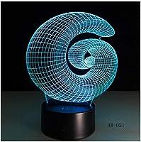 3Dイリュージョンナイトライト 抽象的な形 スマートタッチ LED3Dキッズおもちゃベビースリープデスクランプ寝室の装飾ベッドサイドスマートタッチ7色変化する調光可能、女の子の男の子のための最高のおもちゃの誕生日