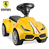 Best Choice Products Kids Licensed Ferrari 458 Sports Car Ride On Push Pedal Vehicle w/ Steering Wheel, Horn- Yellow