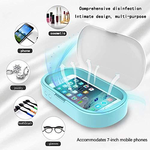 Tragbarer Handy-Sterilisator Aromatherapie UV-Sterilisationsbox UVC-Licht Für Spielzeug Handy-UV-Desinfektionsmittel Blau (Blau)