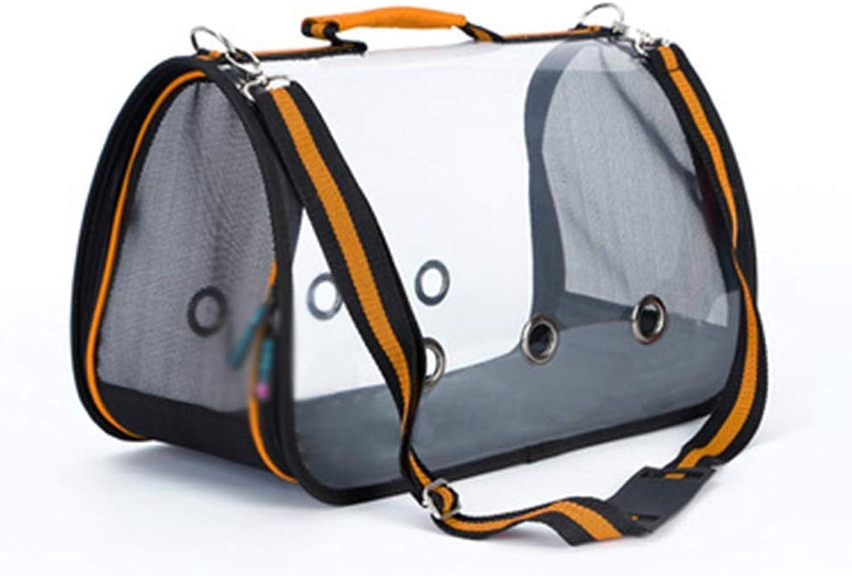 Pet Backpack Outgoing Carrying Case Chest Shoulder Bags Handbag Dog Bags Cat Cage (color   orange, Size   S)