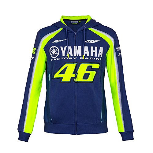 Kapuzenjacke / Hoody, Yamaha Factory Racing Valentino Rossi Nr. 46, MotoGP 2018 VR46, blau, Mens (XL) 118cm/46 Inch Chest