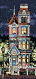 Dimensions 'Victorian Charm' Counted Cross Stitch Kit, 18 Count Navy Aida, 8'' x 17''
