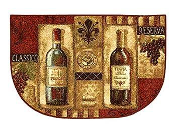 Mohawk Kitchen Slice Rug Home Wine Bottle Design Skid Resistant 20 x 30 Inch