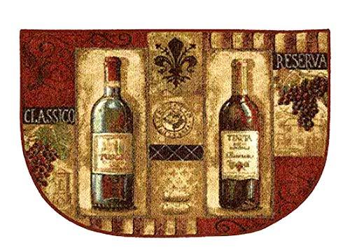 Mohawk Küchen-Teppich, Weinflaschen-Design, rutschfest, 50,8 x 76,2 cm