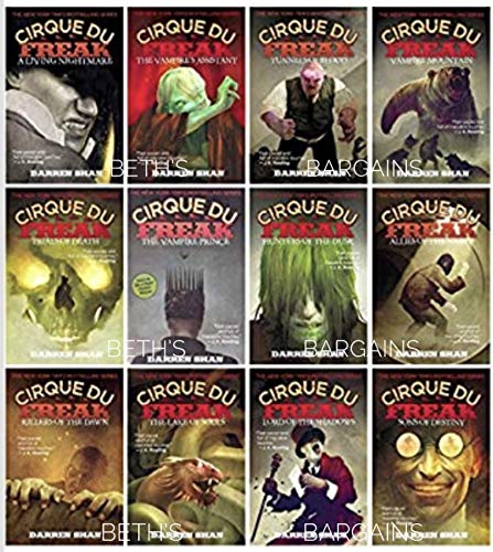 Cirque Du Freak Series - Complete 12 Book Collection - Killers of the Dawn, Lord of the Shadows, Trials of Death, Sons of Destiny, Living Nightmare, Vampire s Assistant, Tunnels of Blood, Vampire Prince, Hunters of the Dusk