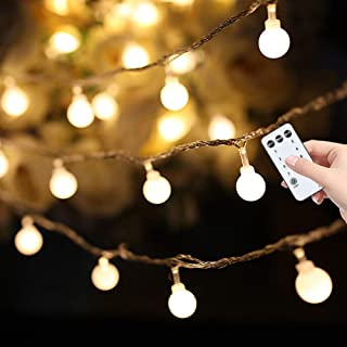 59ft 100 LED Globe String Lights, Extendable Waterproof Fairy String Lights wite Remote and Timer, Wall Patio Home Decor f...