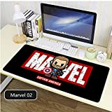 The Avengers Mouse Pad Professional Large Gaming Mouse Pad, Classic Pattern Mouse mat,Extended Size Desk Mat Non-Slip Rubber Mouse Mat Marvel (2, 900 × 400× 2 mm / 35.5 × 15.8 × 0.1 inch)