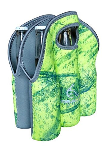 Koverz - #1 Neoprene Insulated 6-Pack Carrier, Beer Bottle Carrier, Six-Pack Tote - Realtree Fishing Yellow