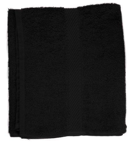Fripac-Medis - Toalla para la cabeza (30 x 90 cm), color negro
