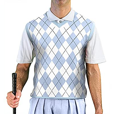 V-Neck Argyle Golf Sweater