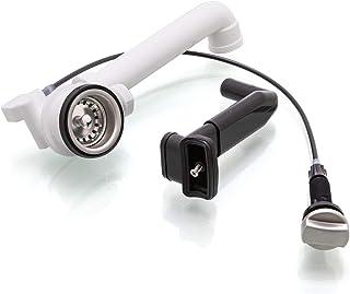 Spülenablauf 1 1/2 mit Überlauf Siebkorbventil 70 mm Ablaufgarnitur EXA15-R-10-1-8 mit Drehexcenter Edelstahl gebürstet einige Teka und Blanco Spülen