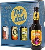 Coffret Top Dad - Pack de 4 bières - Idée Cadeau - Saveur Bière