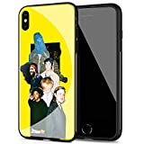 iPhone 8 Plus/7 Plus Case, Soft TPU Frame Protective Anti-Scratch Tempered Glass Back Cover SPM-62 Brockhampton