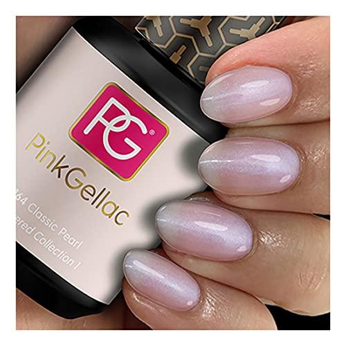 Pink Gellac Shellac Gel Nagellack 15 ml für UV LED Lampe | 164 Classic Pearl Rosa Rose Glitzer Glitter | Gel Nail Polish for UV Nail Lamp | LED Nagel Lack Gellack Nagelgel
