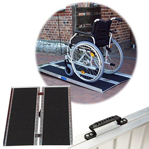 Rollstuhlrampe verschiedene Größen 272 kg klappbar Alu Auffahrrampe Verladerampe Rampe (152)