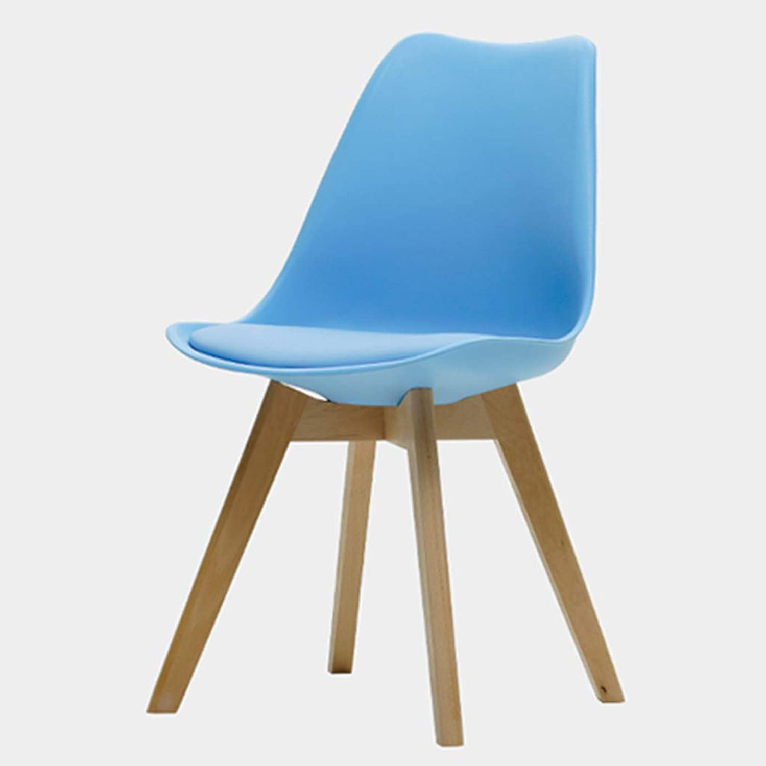 Solid Wood Dining Chair Backrest Dressing Table Stool Household European Style Chair Environmental Predection Multifunction Armchair Nordic Desk Chair Cafe Leisure Chair,bluee