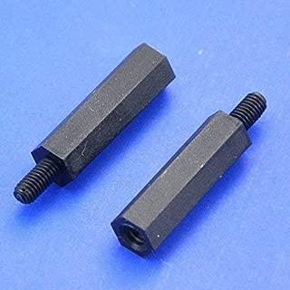 0.59 Black Nylon M2.5 Threaded Hex Female-Female Standoff Spacer. Electronics-Salon 100pcs 15mm