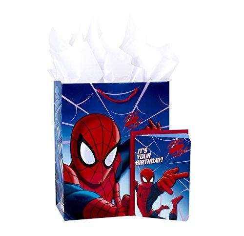 "Hallmark 13"" Large Superhero Gift Bag with Birthday Card and Tissue Paper (Spider-Man)"